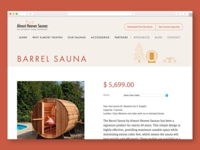 Almost Heaven Saunas: Product Page saunas illustration web design website