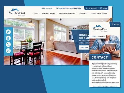 Member First Mortgage Website website web design