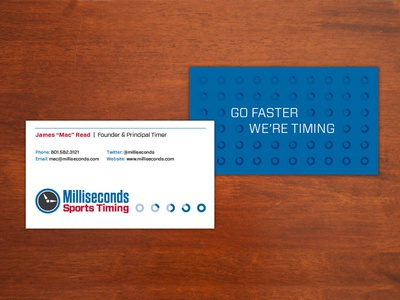 Milliseconds Sports Timing Business Card