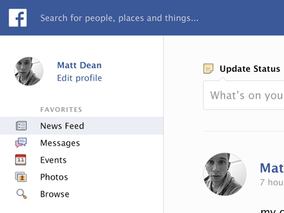 A Facebook cleanup