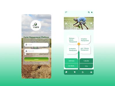 #Farm Management Platform platform farm management platform calendar agriculture ui design image icon help add farm irrigation fertigations medical signup page login app ios farming farm