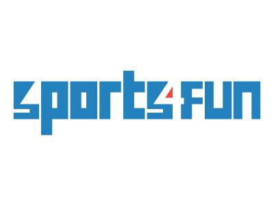 Sports 4 Fun - Logo design fun space negative four sports logo