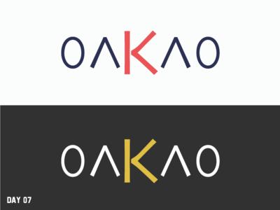 Daily Logo Challenge 07/50 brand fashion oakao simple letter logo daily logo daily challenge dailylogochallenge daily logo design