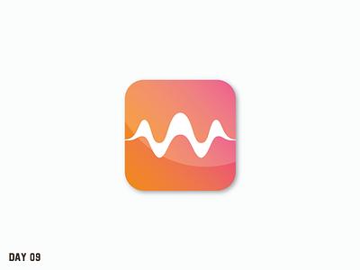 Daily Logo Challenge 09/50 minimal app branding startup music app simple daily logo daily challenge dailylogochallenge daily logo design