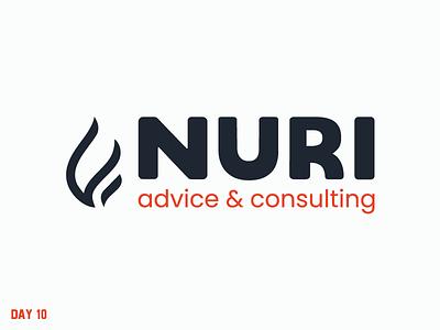 Daily Logo Challenge 10/50 nuri advice consulting fire branding vector letter logo daily logo daily challenge dailylogochallenge daily logo design