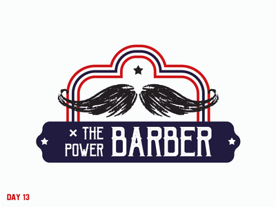Daily Logo Challenge 13/50 barber letter logo daily logo daily challenge dailylogochallenge daily logo design