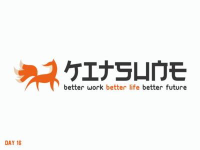 Daily Logo Challenge 16/50 oriental kitsune fox japan japanese daily logo daily challenge dailylogochallenge daily logo design