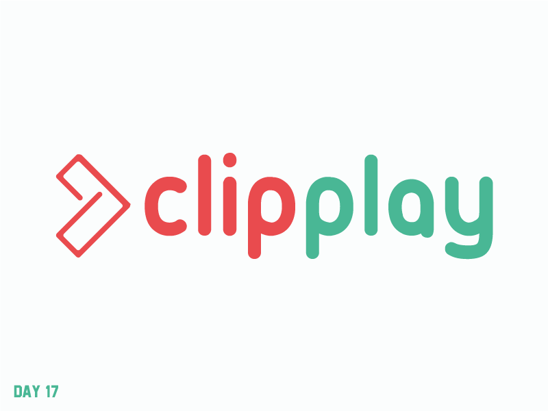 Daily Logo Challenge 17/50 video play branding vector geometric simple letter logo daily logo daily challenge dailylogochallenge daily logo design