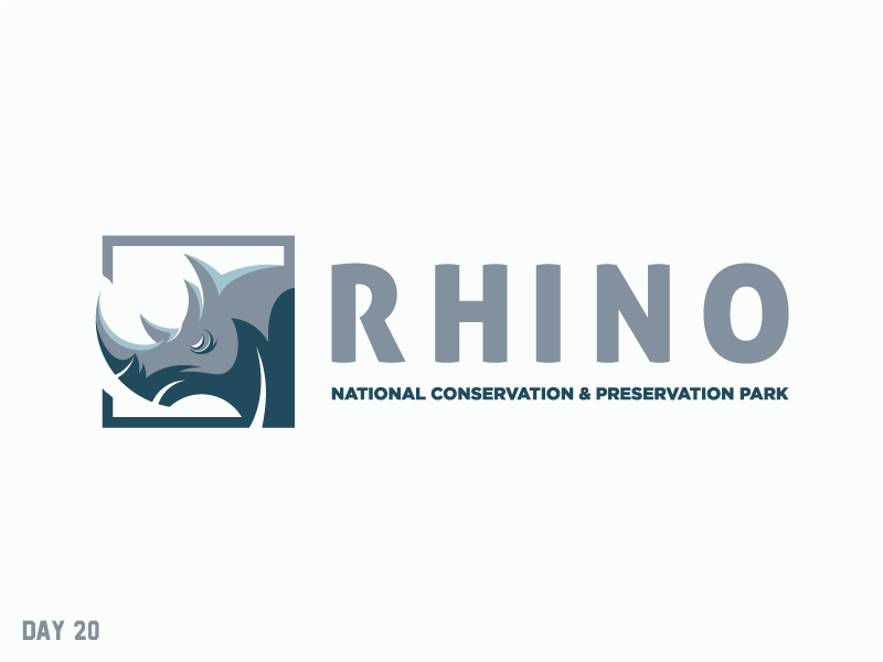 Daily Logo Challenge 20/50 preservation conservation rhino national park daily logo daily challenge dailylogochallenge daily logo design