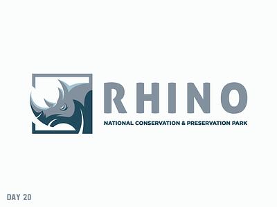 Daily Logo Challenge 20/50 preservation conservation rhino national park daily logo daily challenge dailylogochallenge daily logo design