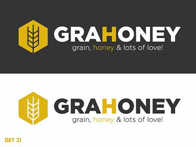 Daily Logo Challenge 21/50 granola honey daily logo illustration daily challenge dailylogochallenge daily logo design