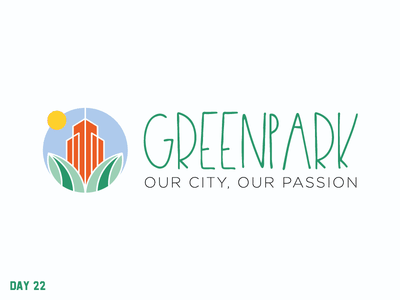 Daily Logo Challenge 22/50 park green city simple daily challenge dailylogochallenge daily logo design