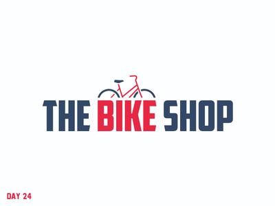 Daily Logo Challenge 24/50 bicycle shop bicycle letter logo daily logo daily challenge dailylogochallenge daily logo design