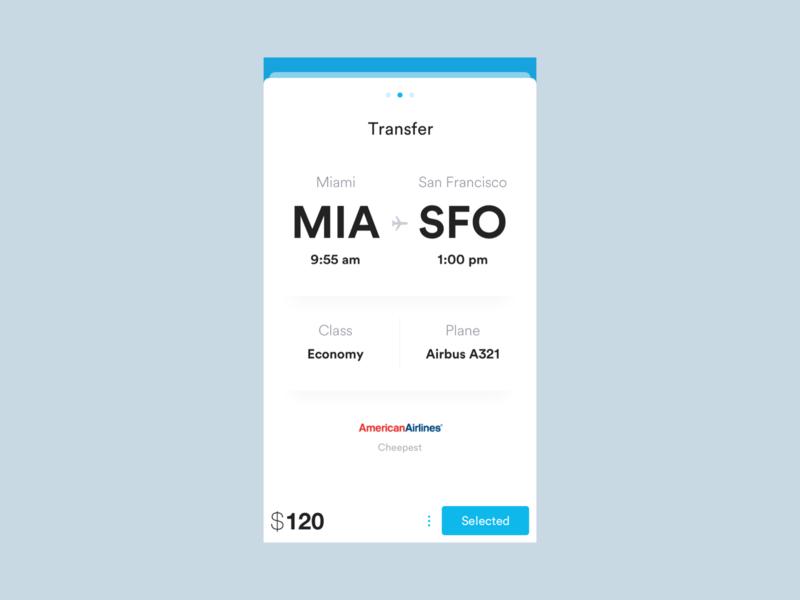 Triptana — Flight Details travel flight ui design visual design app mobile ux user interface design ui interface ios