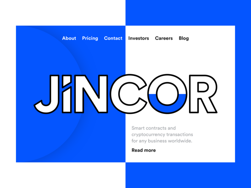 Jincor — Digital Product Design logo clean blue user inteface blockchain ico interface corporate design landing page landing web design webdesign website web ui web visual design ux ui user interface design