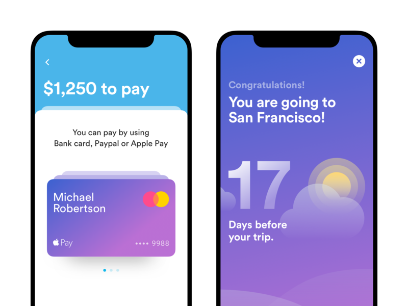 Triptana — Payment ios interface ui user interface design ux mobile app visual design modeling clean card bank card withdraw money