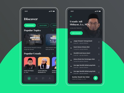 Da'wah podcast app ux design ui  ux ui design design podcasts podcast ui user interaction user experience design user experience user interface design user interface ramadan podcast app daily ui ux ui graphic design dailyui podcast dawah