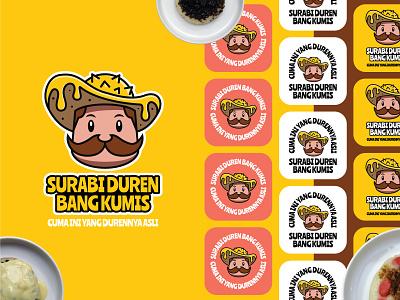 Surabi Duren Bang Kumis Logo vector illustrator logo brand branding logo logo design logo concept food app food branding food brand character design logo design illustration brand identity design brand design corporate identity branding surabi food food logo