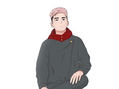 Fanart Jujutsu Kaisen vector art vector cartoon fantasy fan art animestyle illustration