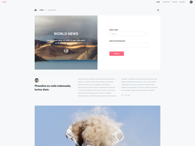 Large desktop with adobe xd photography photoshop highres wireframing title form cta animation branding icon ux typography adobexd vector ui design adobe xd design