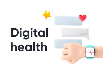 Digital Health digital health whitepaper brand digital illustration 3d art render design healthcare branding 3d