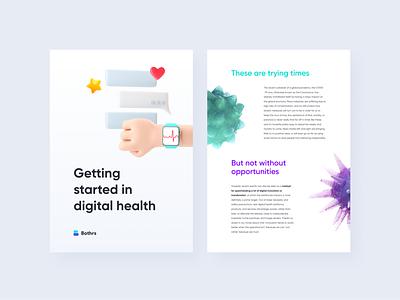 Digital Health Paper corona coronavirus print whitepaper render illustration healthcare digital health design branding brand 3d art 3d