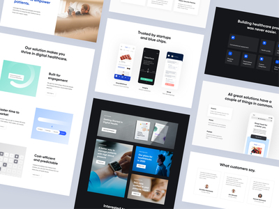 Healthblocks Website spacing grid landing ui ux website page healthcare product user inteface web visual identity marketing design system design brand design brand