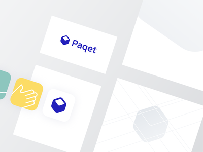Paqet Brand identity visual identity paqet package logos logomark logo icon geometry geometic design system branding brand identity brand box bothrs