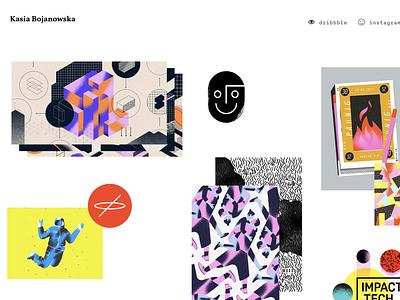 kasiabojanowska.com layout showcase illustration designers website illustrator artist designer portoflio www