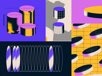 Guide to Architectural fees abstract shape grid architecture paper halftone texture geometry coins money editorial illustration editorial