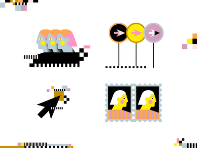 Spot illustrations and pattern design editorial pixels texture pattern spot spots illustration
