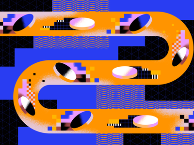 The Hidden Cost of AWS motion pixel geometry texture gradient abstract security vpn network cost money coin illustration