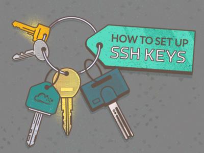Ssh Keys texture illustration keys