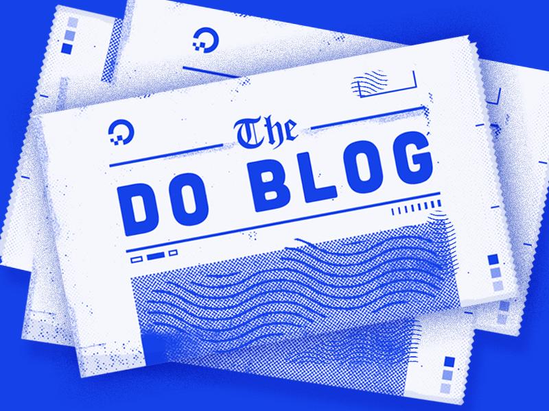 The DigitalOcean Blog print halftone texture blue illustration newspaper