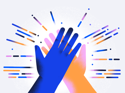 Developer Advocates open source lines code clap hands high five illustration
