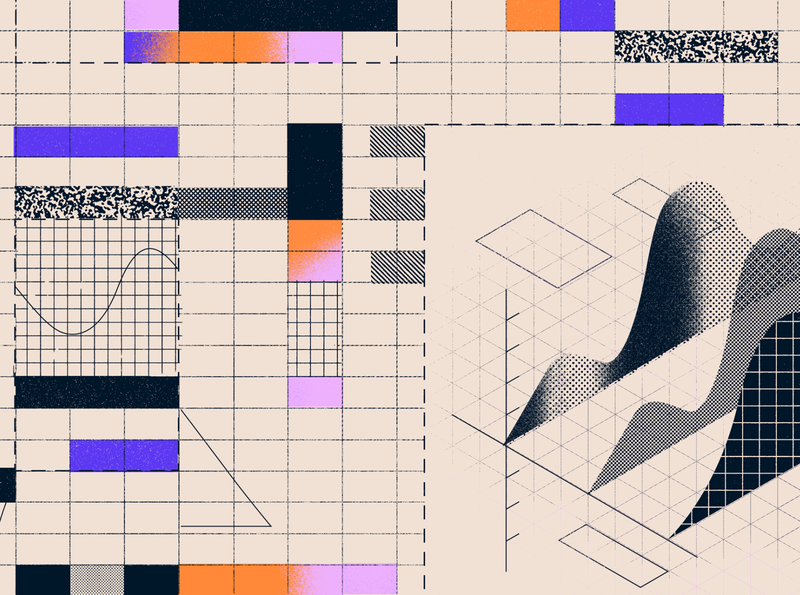 Cost Performance Index measure calculate grids grid shapes geometry graph texture spreadsheet illustration