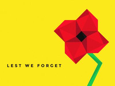 ANZAC Day 2014 - Lest We Forget illustration geometric flat
