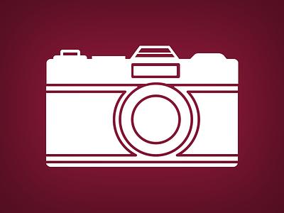 Camera vector film outline camera