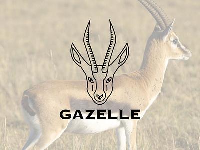 Gazelle minimal logo design vector logo design logo icon branding graphic design conception design