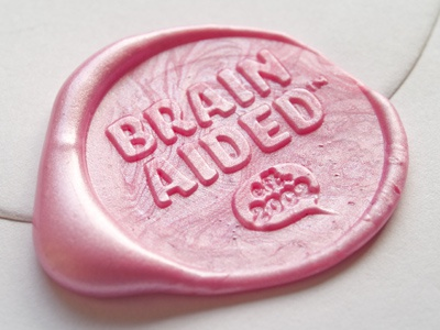 Brain Aided™ Wax Stamp #02 wax stamp design print brain aided promotional