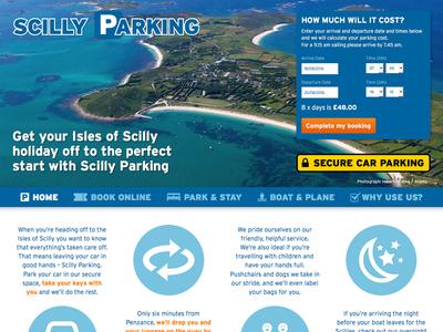 Scilly Parking – Website Design