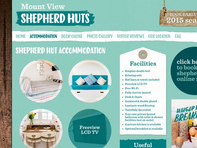 Mount View Shepherd Huts – Website Accomodation Page