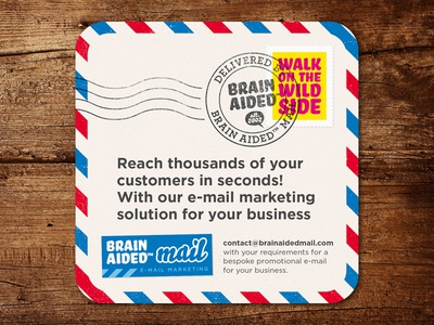 Brain Aided™ Mail – Beer Mat