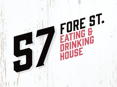 57 Fore St – Rejected Logo Concept #1 st ives shabby chic cornwall victorian drinking eating branding food design identity logo