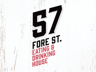 57 Fore St – Rejected Logo Concept #2 st ives shabby chic cornwall victorian drinking eating branding food design identity logo