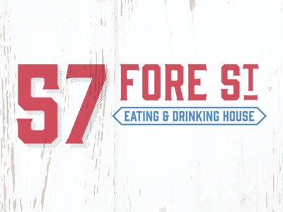 57 Fore St – Rejected Logo Concept #3 st ives shabby chic cornwall victorian drinking eating branding food design identity logo