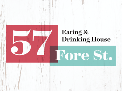 57 Fore St – Rejected Logo Concept #4 st ives shabby chic cornwall victorian drinking eating branding food design identity logo