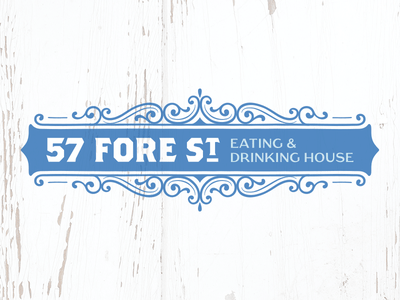 57 Fore St – Rejected Logo Concept #5 st ives shabby chic cornwall victorian drinking eating branding food design identity logo