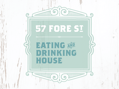57 Fore St – Rejected Logo Concept #6 st ives shabby chic cornwall victorian drinking eating branding food design identity logo
