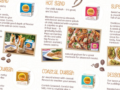 The Dukkah Company – Promotional Leaflet Detail #2 cornwall food dukkah packaging branding identity design logo
